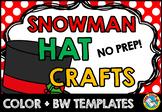 CHRISTMAS ACTIVITIES KINDERGARTEN, PRESCHOOL SNOWMAN CRAFT HAT TEMPLATES