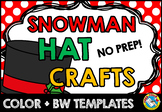 CHRISTMAS CRAFTS: SNOWMAN CRAFT HAT TEMPLATES