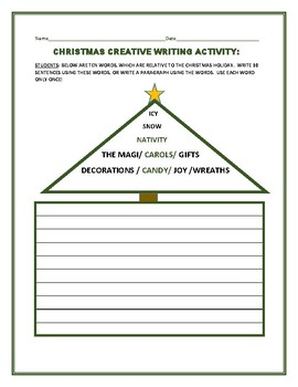 CHRISTMAS CREATIVE WRITING ACTIVITY