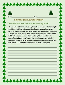 CHRISTMAS CREATIVE WRITING PROMPT