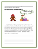 CHRISTMAS CREATIVE WRITING PROMPT: THE GINGERBREAD GIRL & THE ELF