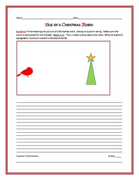 CHRISTMAS CREATIVE WRITING PROMPT: THE ROBIN