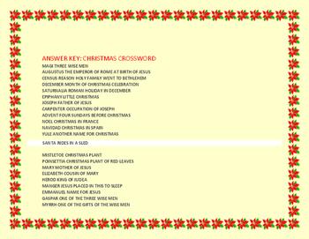 CHRISTMAS CROSSWORD PUZZLE FUN!