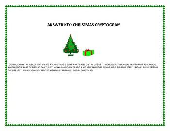 CHRISTMAS CRYPTOGRAM: ST. NICHOLAS