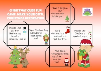 CHRISTMAS CUBE FUN - GAME, DECORATION AND MAKE YOUR OWN