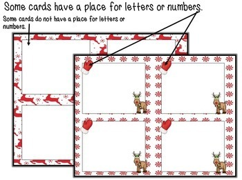 Christmas Editable Cards (red)