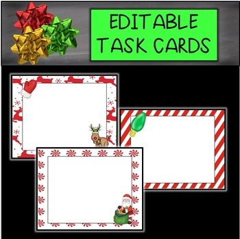 Christmas Editable Cards (red)