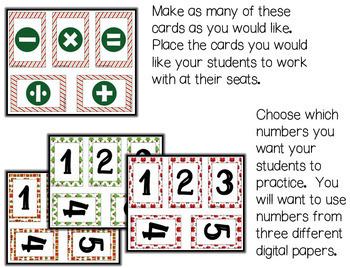 Christmas Group Equations Game