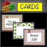 Editable Christmas Student Cards