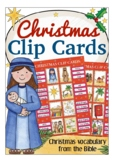 CHRISTMAS Clip Cards - vocabulary & spelling the fun way!