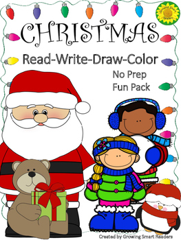 Color Christmas Pictures To Draw.Christmas Read Write Draw Color