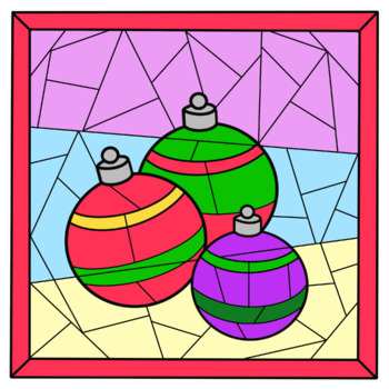 CHRISTMAS Color by Code Clip Art