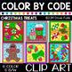 CHRISTMAS Color by Code Clip Art BUNDLE