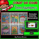CHRISTMAS - Color by the TEEN NUMBER {INCLUDES DIGITAL RESOURCE}