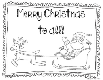 CHRISTMAS Activities Coloring & Writing Pages Set