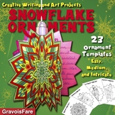 CHRISTMAS Crafts & Activities: 23 Snowflake Ornaments for Creative Writing & Art
