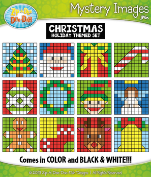 CHRISTMAS Mystery Images Clipart {Zip-A-Dee-Doo-Dah Designs}