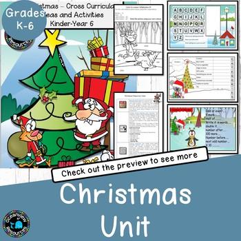 CHRISTMAS Cross Curricular Activities k-6