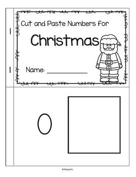 CHRISTMAS Cut and Paste Numbers