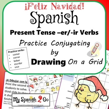 CHRISTMAS: Draw the Correct Conjugation Reg Present Tense --er and ir