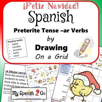 CHRISTMAS:  Draw the Correct Conjugation Reg Preterite --ar
