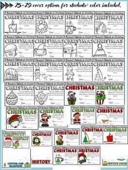 CHRISTMAS EDITABLE FLIPBOOK: INFORMATIONAL REPORT WRITING RESEARCH TEMPLATES