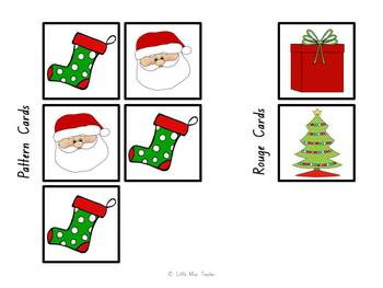 CHRISTMAS EDITION Pattern Problems and Worksheets- 45 Problems = 375 Cards!