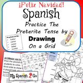 CHRISTMAS EDITION!  SPANISH REG PRETERITE -AR/-ER/-IR VERBS Draw on Grid