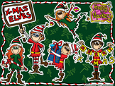 CHRISTMAS ELVES _ clip art by Happy Markers