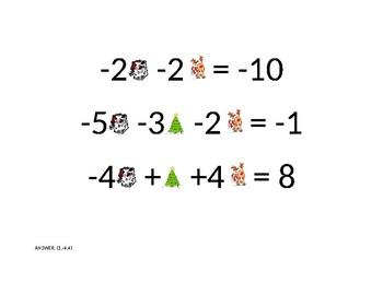 CHRISTMAS EQUATIONS (3X3)