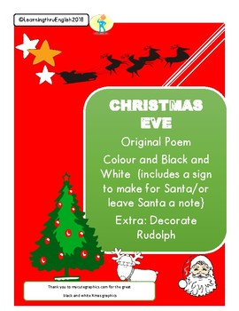 Christmas Eve Poem.Christmas Eve Poem Original And Activities