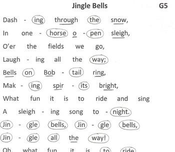 CHRISTMAS Easy Chimes & Bells Arrangement JINGLE BELLS