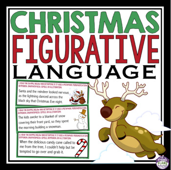 CHRISTMAS FIGURATIVE LANGUAGE TASK CARDS ACTIVITY