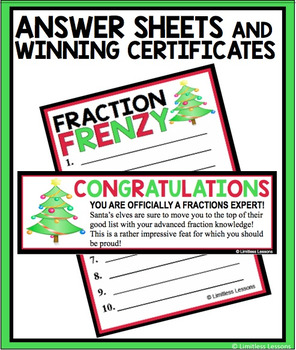 CHRISTMAS FRACTION FRENZY REVIEW GAME