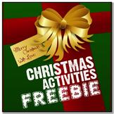 *CHRISTMAS FREEBIE* A Few English Activities