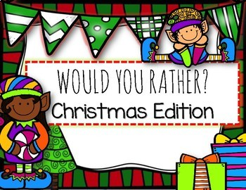 CHRISTMAS FREEBIE- 'Would You Rather?' Task Cards + Recording Sheet