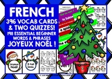 CHRISTMAS: FRENCH VOCABULARY CARDS & QUIZZES BUNDLE