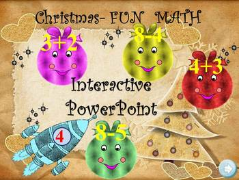 Christmas Math - Addition and Subtraction - PowerPoint presentation