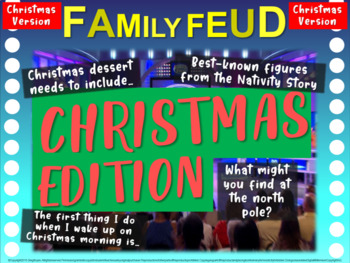 christmas family feud! fun, interactive game to celebrate the holiday, Powerpoint templates