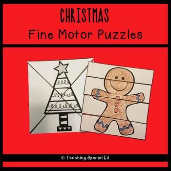 CHRISTMAS Fine Motor Puzzles SET #1