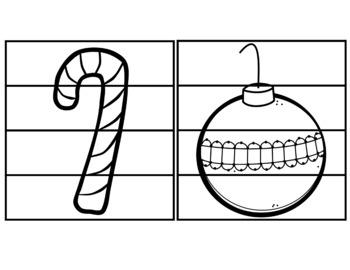 CHRISTMAS Fine Motor Puzzles Bundle