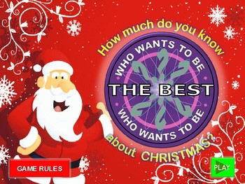CHRISTMAS GAME. WHO WANTS TO BE THE BEST?