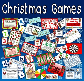 CHRISTMAS GAMES TEACHING RESOURCES KS1-2 BOARD CARD GAMES DOMINOES XMAS