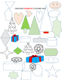 CHRISTMAS GEOMETRY COLORING PAGE