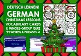 CHRISTMAS: GERMAN VOCABULARY CARDS & QUIZ #1