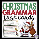 CHRISTMAS GRAMMAR TASK CARDS ACTIVITY