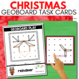 CHRISTMAS Geoboard Task Cards for December STEM