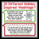 CHRISTMAS QUOTE POSTERS: HASHTAGS