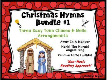 CHRISTMAS HYMNS - 3 Easy Chimes & Bells Arrangements BUNDLE #1