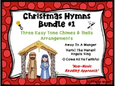 CHRISTMAS HYMNS - 3 Easy Chimes & Bells Arrangements BUNDLE #1